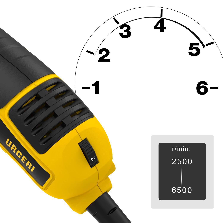 7 D URCERI 710W Car Buffer Polisher 2500-6500 RPM Random Orbital Soft Start