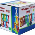 Toys of Wood Oxford, 12 quilles en bois colorées
